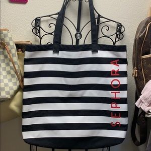 Sephora black and white tote